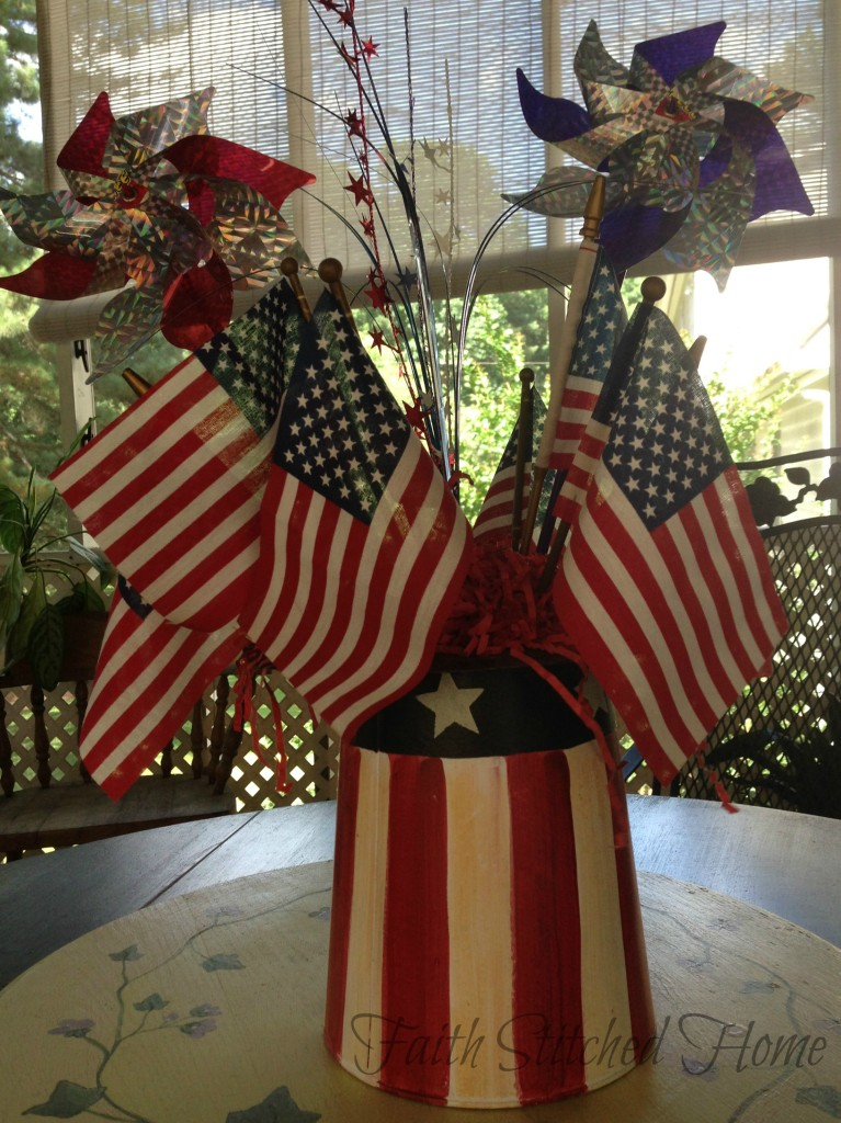 Uncle Sam's hat - flag boquet