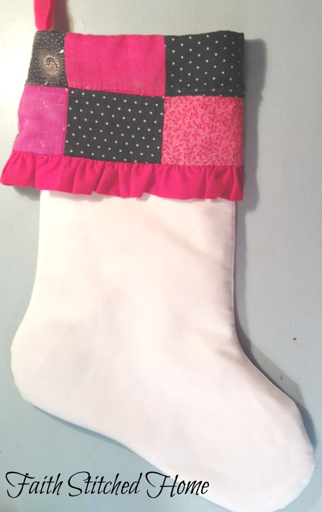 Christmas stocking 2 - vintage quilt
