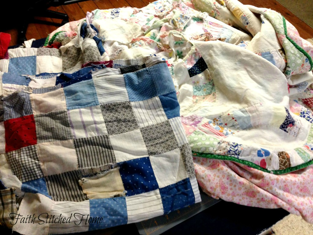 Old worn quilts (1)