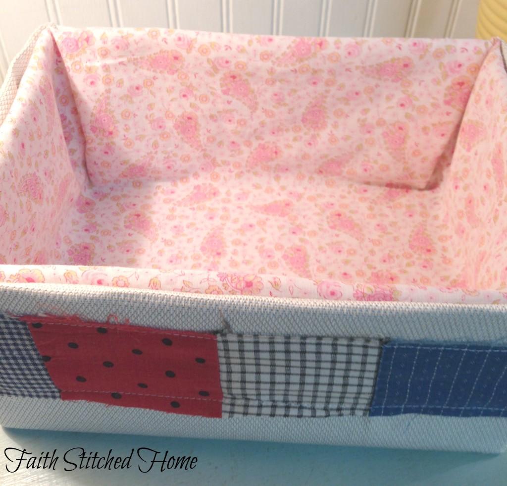 Storage box 2 - vintage quilt