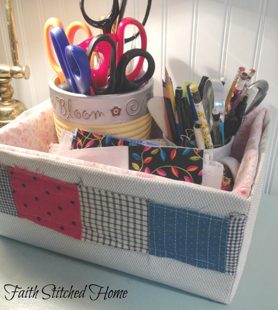 Storage box 3 - vintage quilt