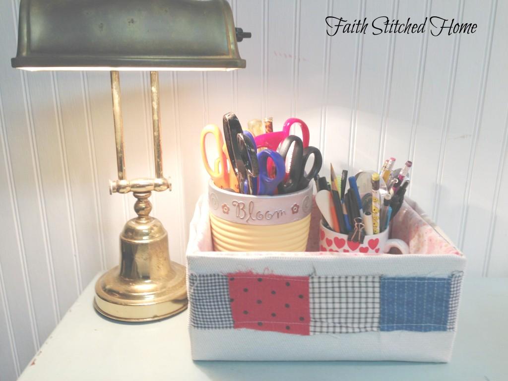 Storage box 5 - vintage quilt