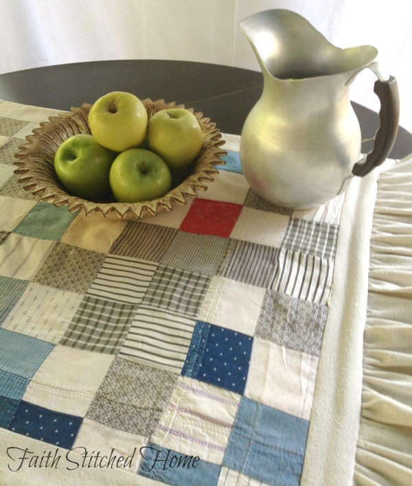 Table runner still life - vintage quilt