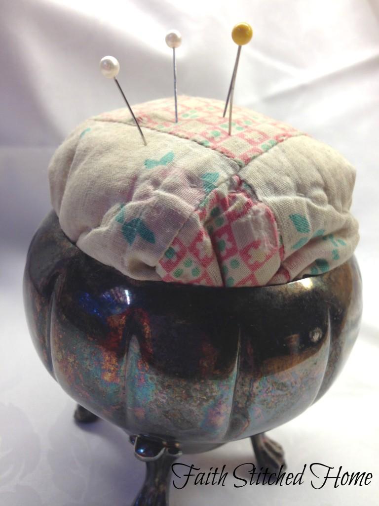 Vintage quilt pincushion 2