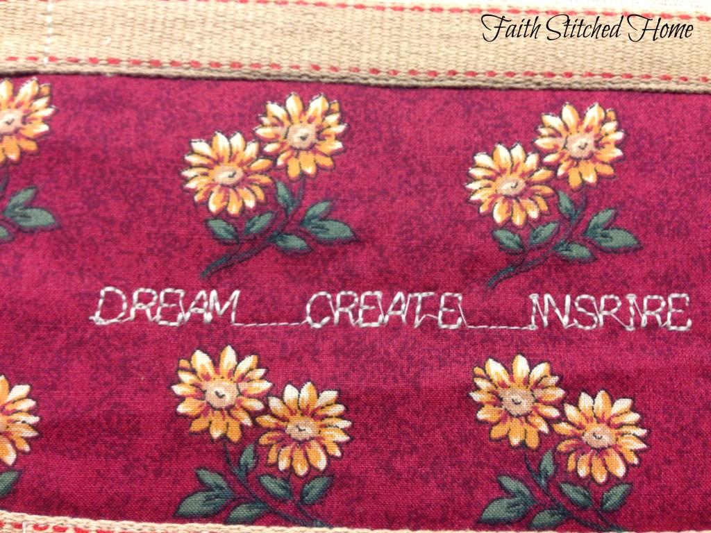 Coloring book cover - dream create inspire