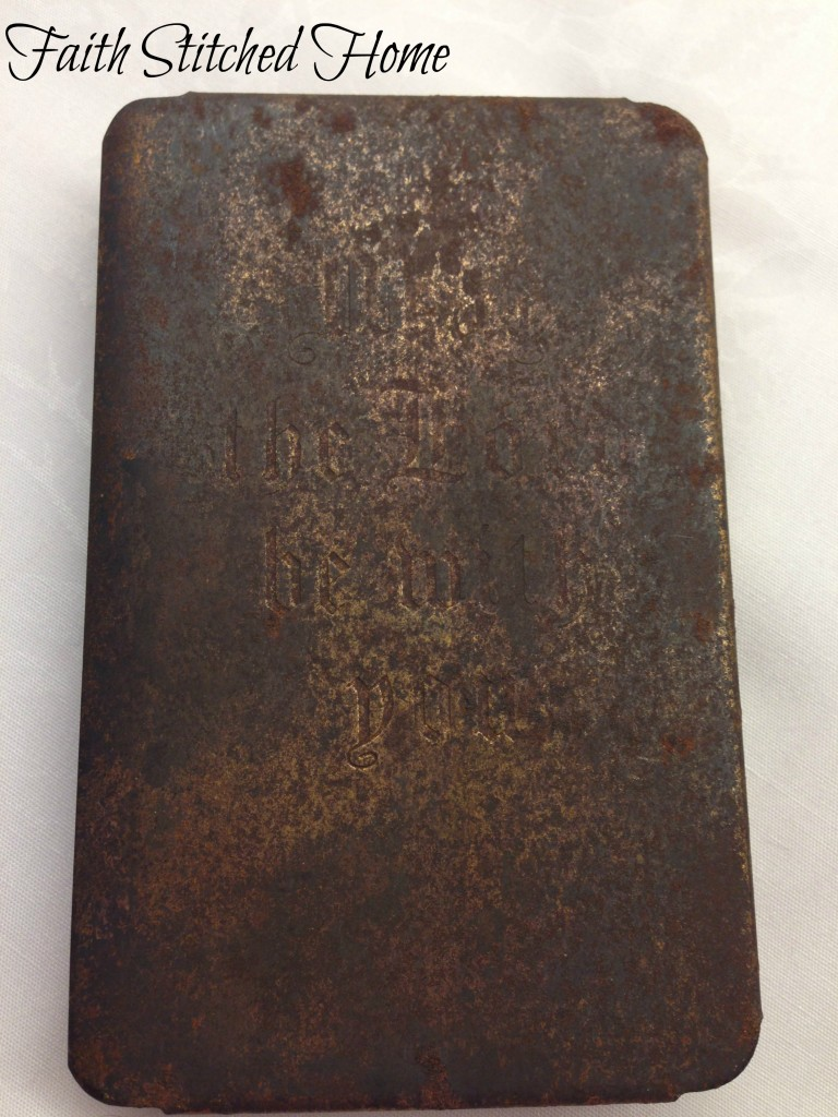 WW2 Military issue Bible with metal front