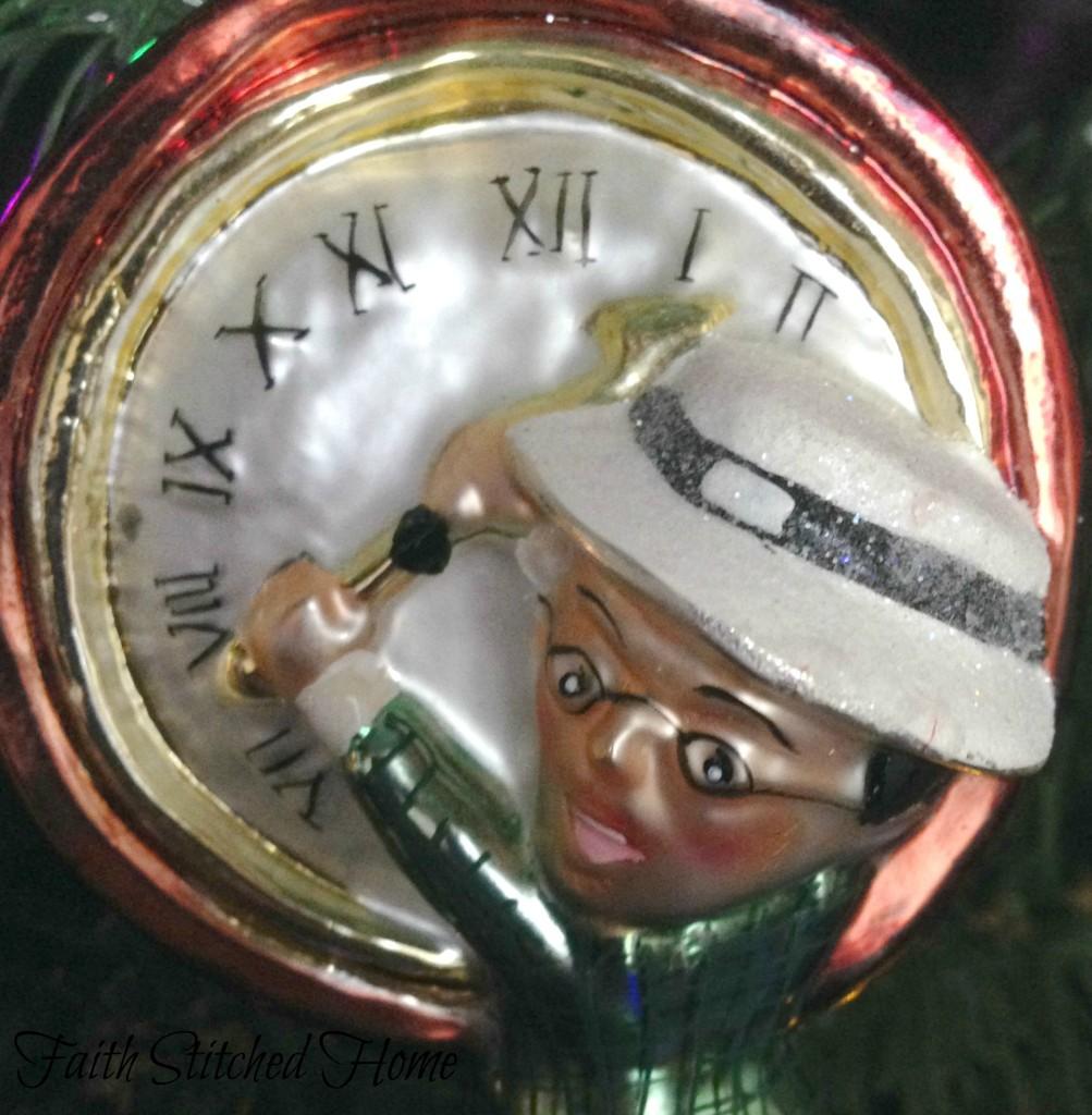Radko ornament - Harold Lloyd closeup