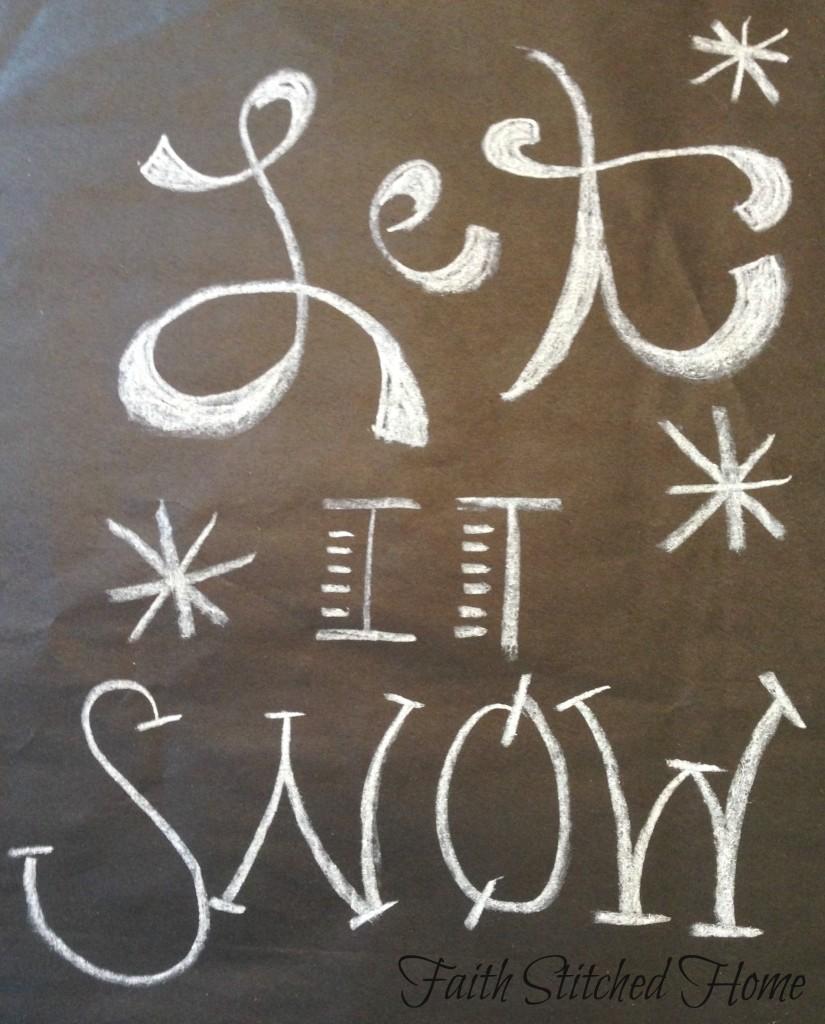 Winter mantle - Let it snow