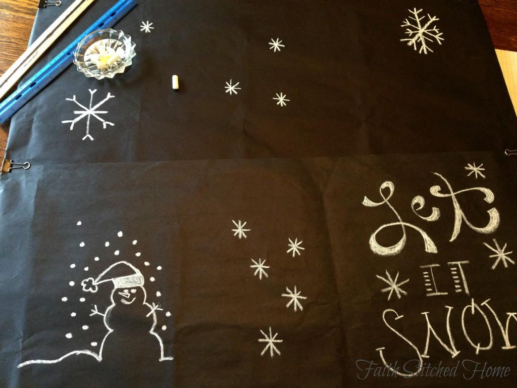Winter mantle - chalk art