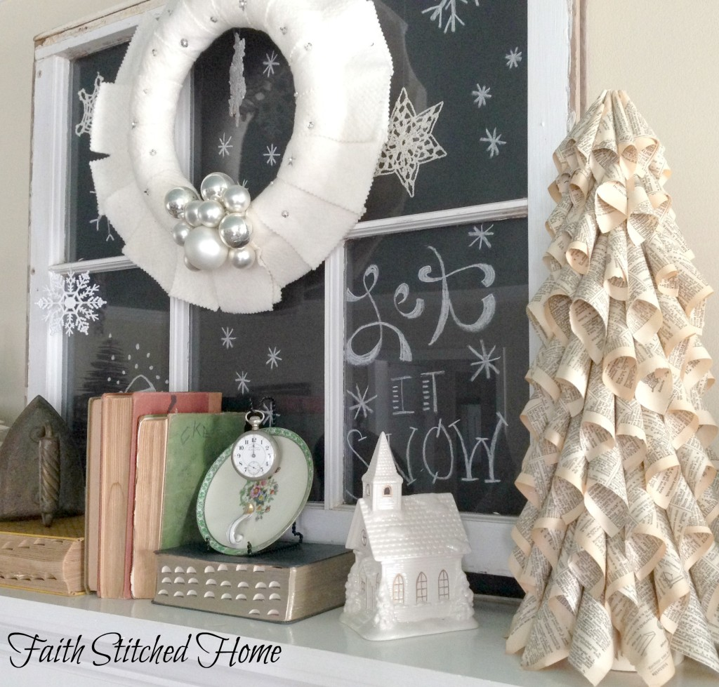 Winter mantle decor