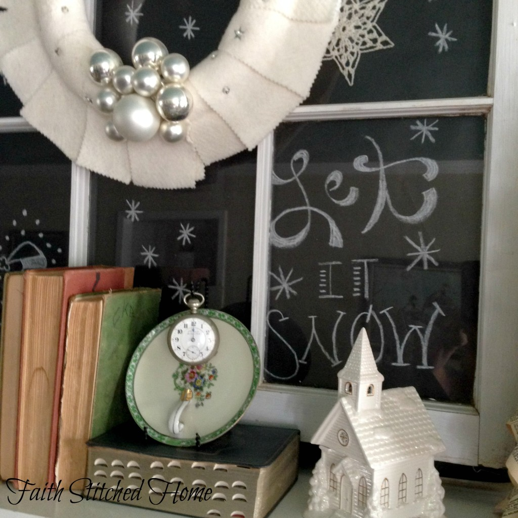Winter mantle - vintage elements