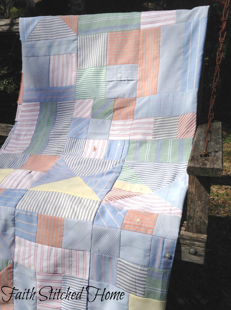Oxford shirt quilt 2