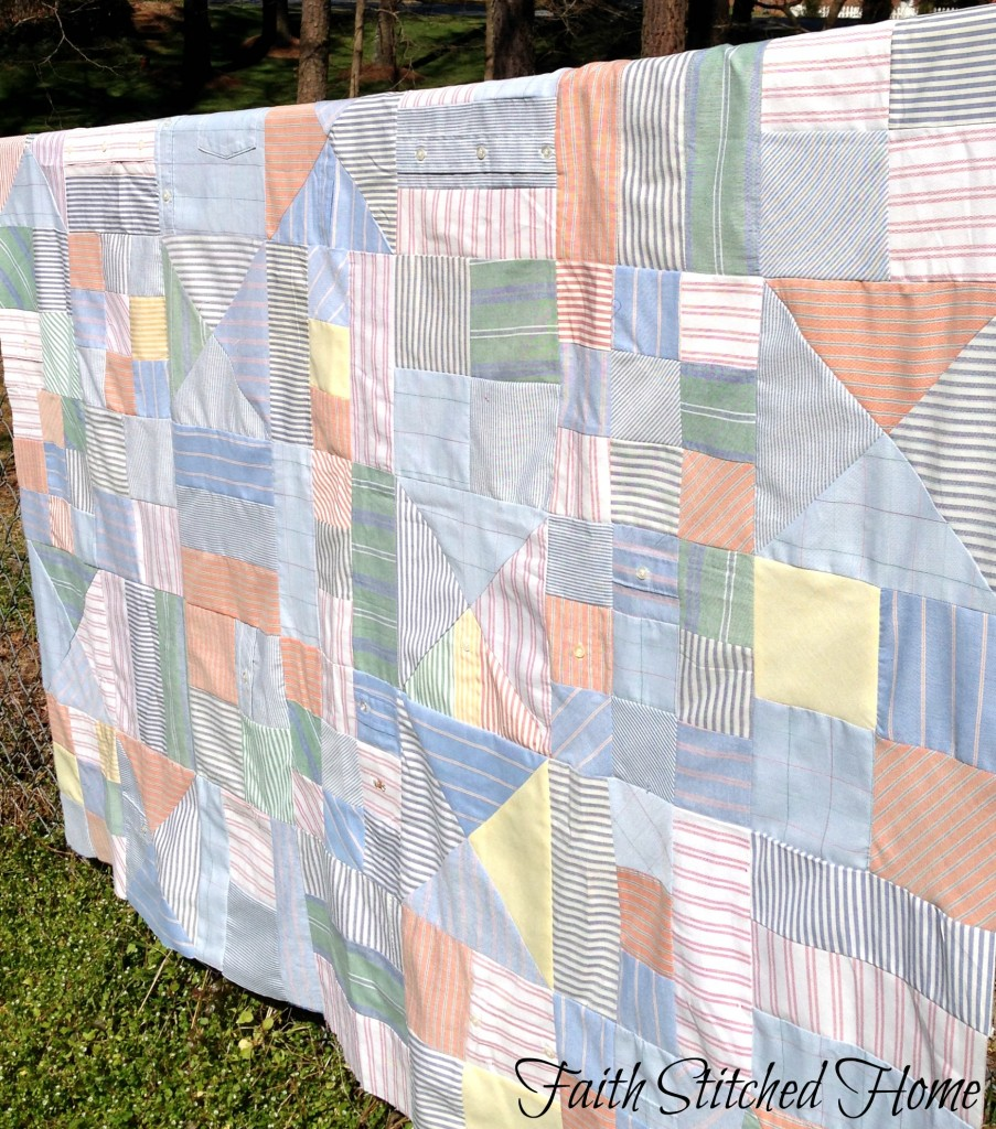 Oxford shirt quilt