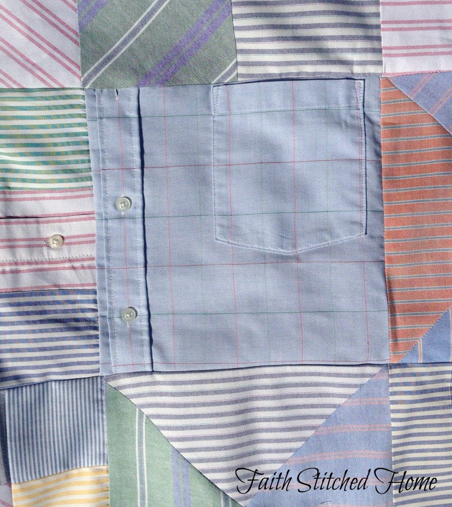 Oxford shirt quilt with pocket