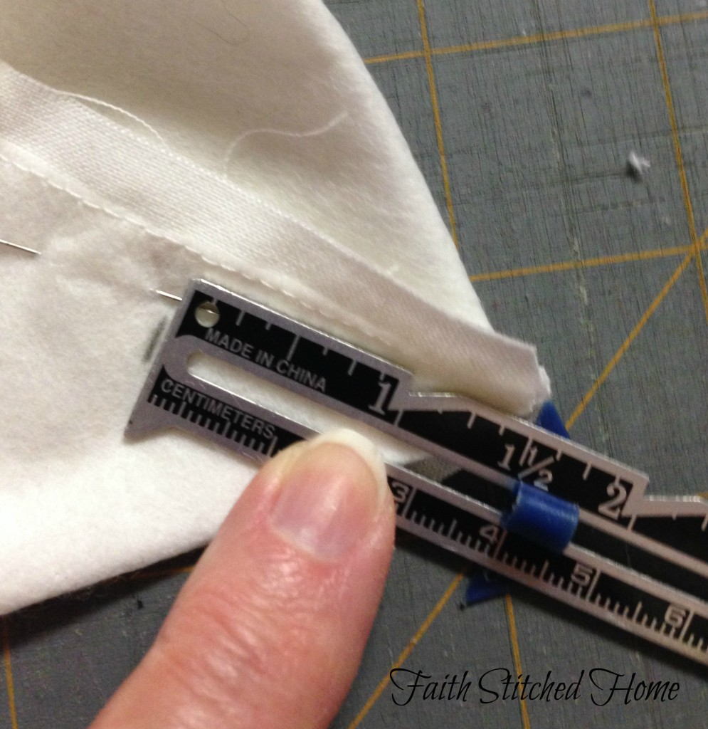 Zipper bag - box corner marking
