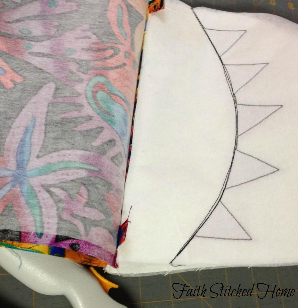 Zipper bag - prepare to sew sides