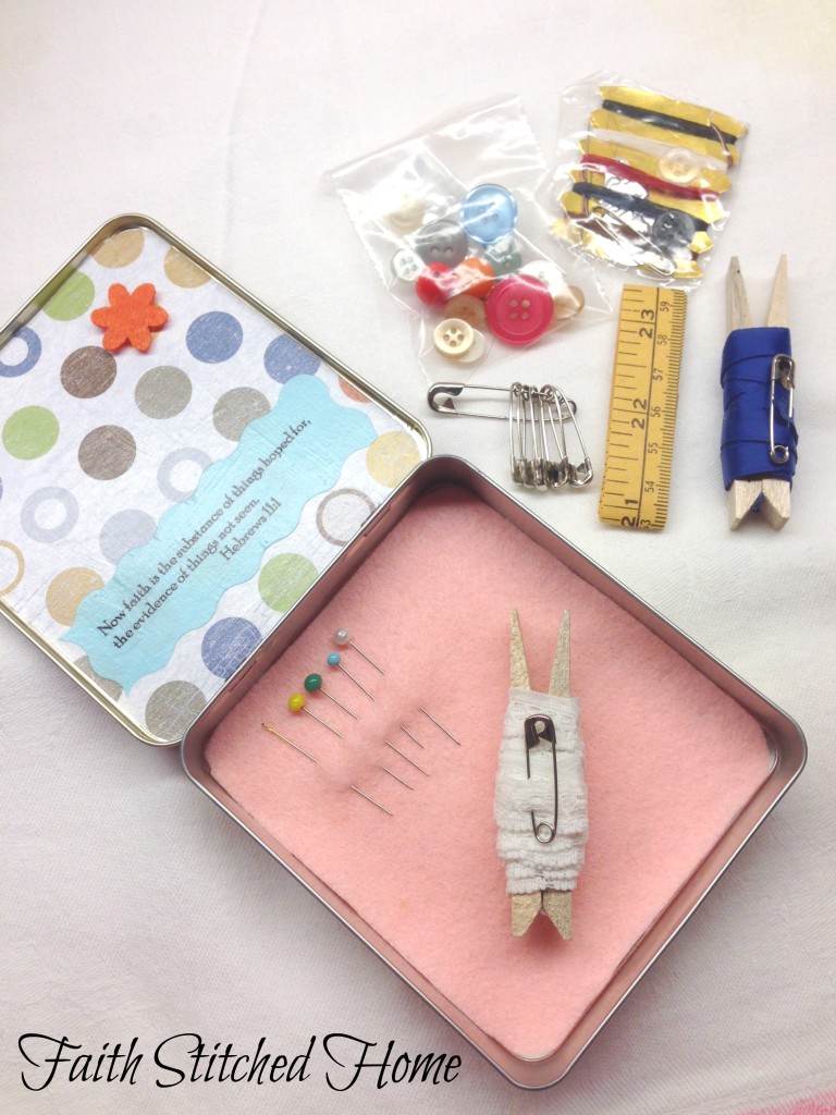 Sewing kit contents