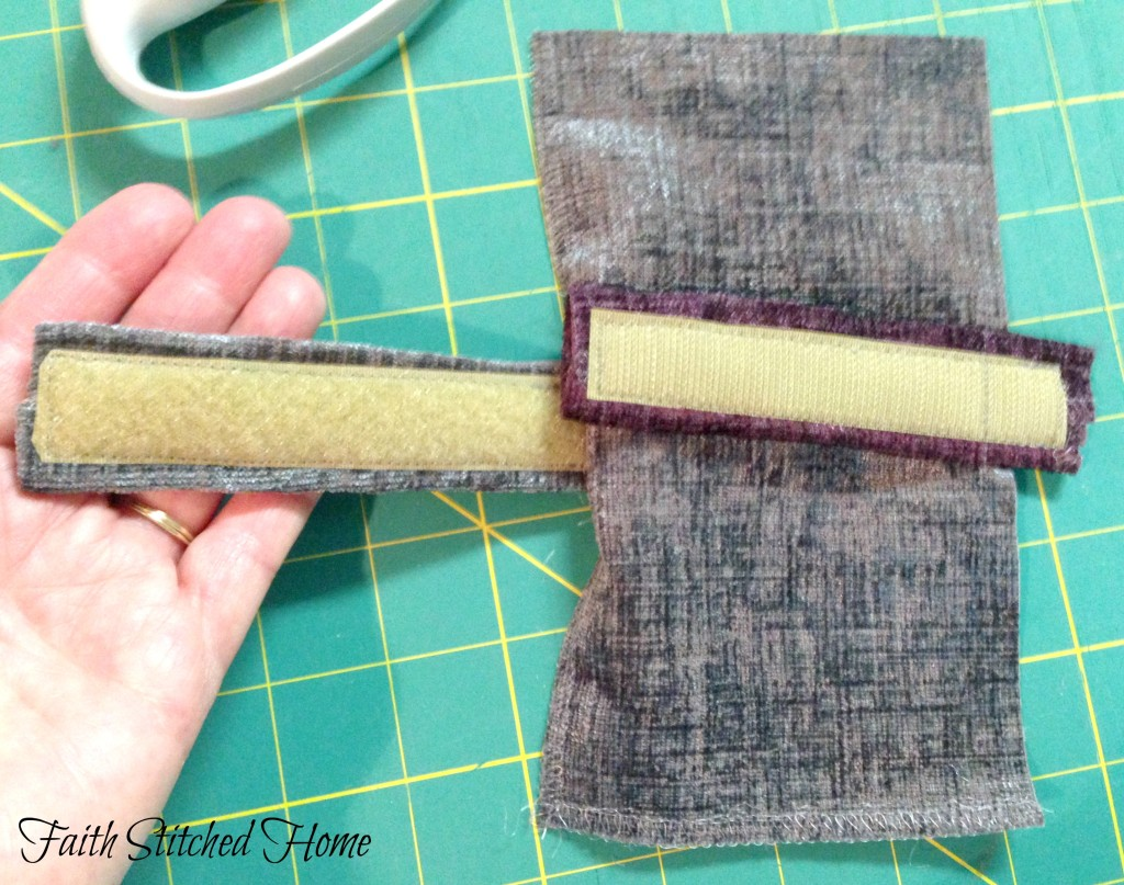 Upholstery samples - portacath pillow stay stitching velcro tabs