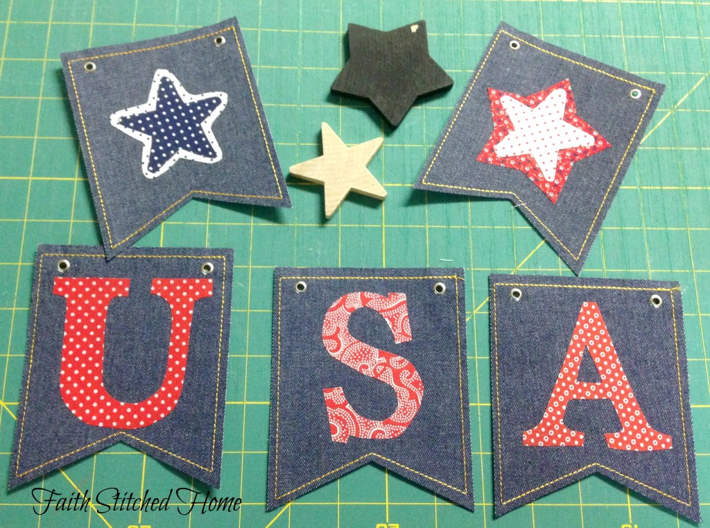USA banner - ready to add ribbon