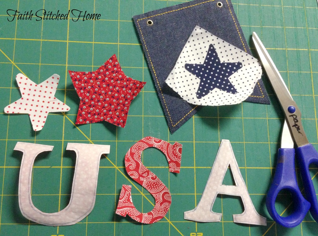 USA banner - ready to fuse appliques